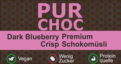 Infobild des Müslis PurChoc - Dark Blueberry Crisp von müsli.de