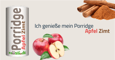 Infobild des Müslis Apfel-Zimt Porridge von müsli.de