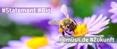 müsli .de| Bio - Bild mit Biene