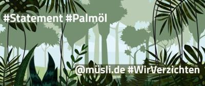 müsli .de | kein Palmöl - Grafik vom Regenwald
